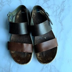 Merrell Brown Leather Cork Sandals Size 7